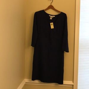 NWT Max Studio size 16 navy blue v-neck dress.